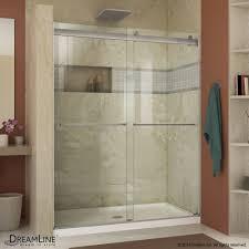 Bypass Shower Door Dreamline Essence 44 To 48 In Frameless Bypass Shower Door Free