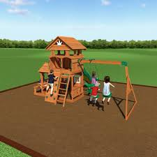backyard discovery tanglewood cedar wooden swing set home