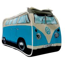 volkswagen camper pink retro blue vw campervan wash bag