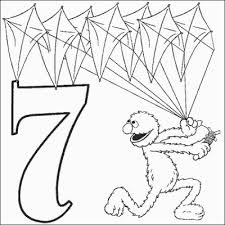 grover number 7 coloring pages printfree
