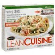 liant cuisine lean cuisine comfort shrimp alfredo calories nutrition analysis