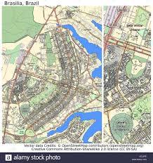 city map of brazil brasilia brazil aerial view city map stock photo royalty free
