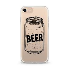 cartoon beer can beer can transparent soft rubber cover for iphone 7 iphone7