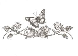 rose with butterflies tattoo design in 2017 real photo pictures