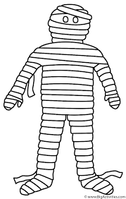 mummy coloring halloween