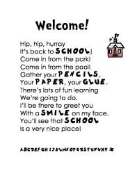 welcome back to school poem or letter by neesienoodle designs tpt