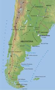 physical map of argentina maps of argentina bizbilla