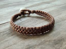 bracelet woven images Hand woven bracelet in natural 4 strand ocean tuff jewelry jpg