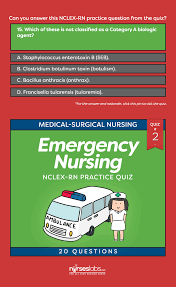 emergency nursing nclex practice quiz 2 20 questions nclex