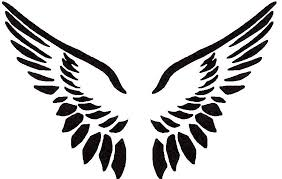 simple angel wing tattoos clipart library clip art library
