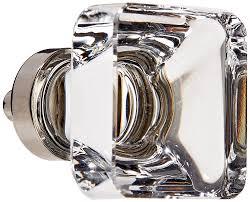 emtek crystal cabinet knobs emtek 86403 us14 polished nickel 1 1 4 crystal square cabinet knob