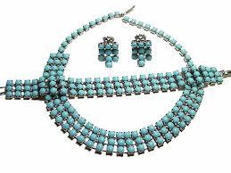 blue glass necklace vintage images Parure necklace sets and bridal vintage jewelry at bavj 39 s jpg