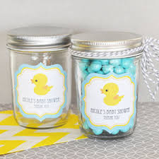 rubber duck baby shower decorations rubber ducky personalized mini jars baby shower glass and