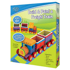 build u0026 paint a freight train by craft for kids u2013 daves deals