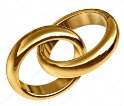 linked wedding rings gold wedding rings linked together stock photo lightsource