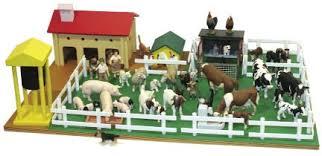 Toy Barn With Farm Animals Montessori Materials Montessori Farm Set With Farm Animals