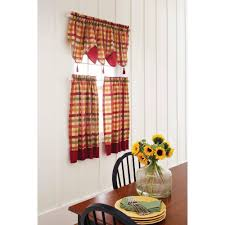 red kitchen curtains gingham value kitchen curtains red and gray