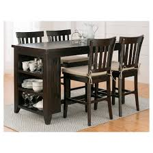 Prospect Creek Counter Height Table With  Shelf Storage Wood - Counter height kitchen table with storage