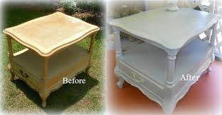 before and after a roadside find shabby chic table makeover