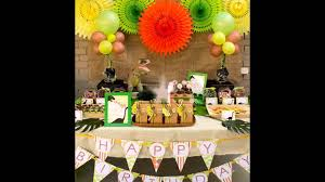 Decoration Ideas For Birthday Party At Home Dinosaur Themed Birthday Party At Home Ideas Youtube