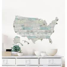 World Map Decal by Wallpops 24 In X 36 In Kids Usa Dry Erase Map Wall Decal Wpe0623