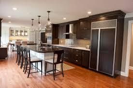 column creating an open contemporary concept kitchen