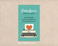 Writer Business Card Simple Business Cards Writer Business Cards Freelance Writer