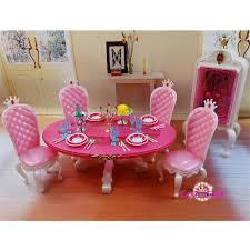 barbie dining room miniature furniture princess dining room c for barbie doll house