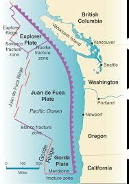 physical map of oregon juan de fuca plate cascadiasubduction sci 52501