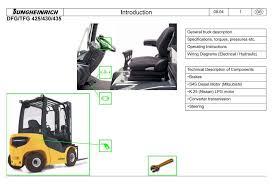 jungheinrich fork truck type dfg425 dfg430 dfg435 tfg425