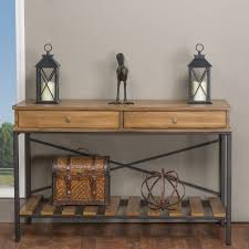 wood and metal console table table reclaimed wood console table pottery barn burl wood console