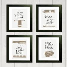 bathroom print set of 4 bathroom etsy and printing