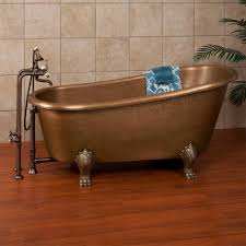 clawfoot tub bathroom design bathroom gold clawfoot tub with wooden floring and tile wall plus