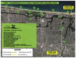 map of ft lauderdale fort lauderdale a1a marathon half marathon 5k course info