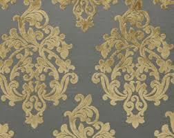 Blue Damask Upholstery Fabric Turquoise Velvet Damask Upholstery Fabric Modern Medallion