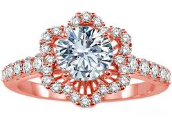 Wedding Rings Rose Gold by Rose Pink Gold Engagement Rings From Mdc Diamonds Nyc