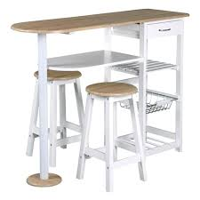 achat bar cuisine acheter bar cuisine table bar et 2 tabourets blanc l 119 x p 37 x h
