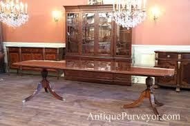 100 double pedestal dining room table broyhill hampton