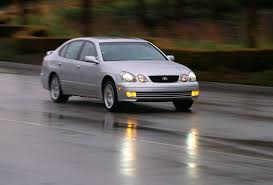 1998 lexus gs400 1998 lexus gs400 silver 3 4 front view on road in motion