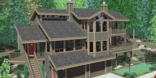 daylight basement homes view house plans sloping lot house plans multi level house plan