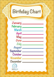 birthday chart template for classroom 28 images 7 best images