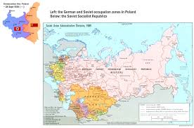 russia map after division the end of wwii and the division of europe ces at unc