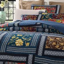 dada bedding bohemian floral real patchwork quilt set u0026 reviews