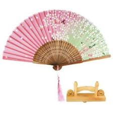 held fan japanese held fan silk folding fan with wooden fan