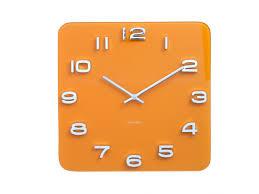 Grande Horloge Murale Carrée En Bois Vintage Achat Horloge Murale Vintage Carrée Curry Et Chrome Karlsson Present