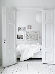 white home interior industrial minimal inspiration bedroom