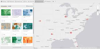 Population Density Map Us How To Create Geographic Maps In Power Bi Using Arcgis