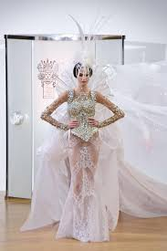 wedding fashion wedding dress baffles at couture fashion week the