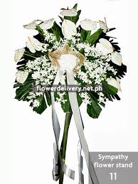 sympathy flowers delivery sympathy flower stand 11 flower delivery in metro manila