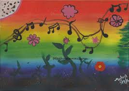 nature u0027s music u201d painting using poster colours
